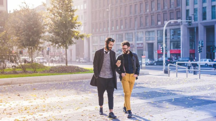 Walk and talk - young professional lifestyle